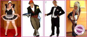lustige Kellner, komische Kellner, Comedy-Kellner, Spasskellner, Showkellner, Chaoskellner, verrückte Kellner