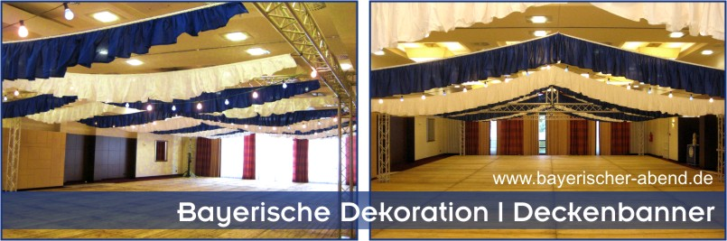 deckenbanner festzelt dekoration f r halle oder location. Black Bedroom Furniture Sets. Home Design Ideas
